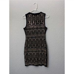 Black Banjul Sequin Sparkle Mini Dress Size Large